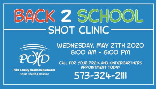 Back 2 School Shot Clinic Scheduled