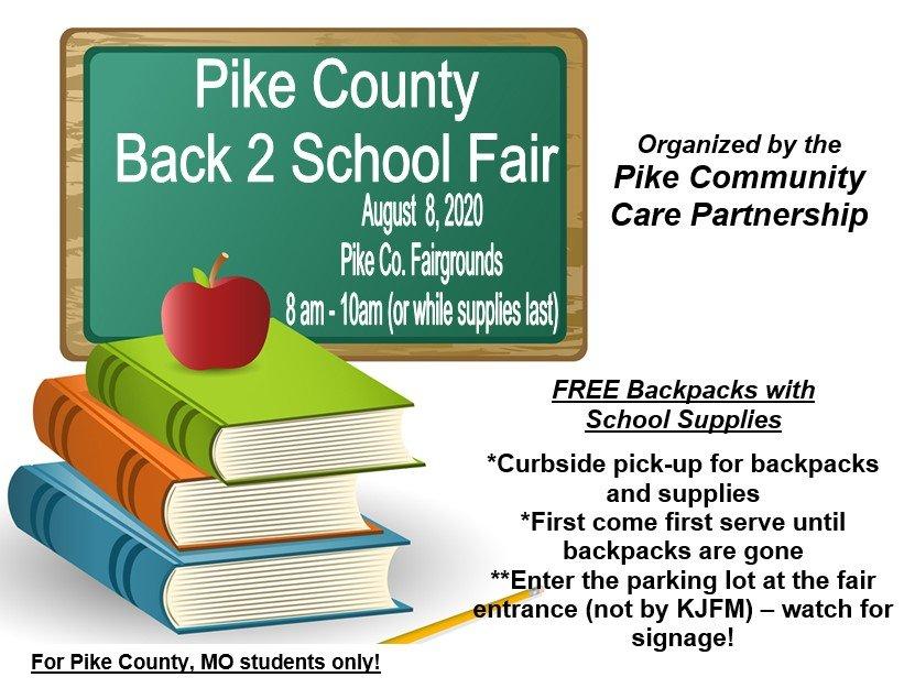 PCCP's Back 2 School Fair Scheduled