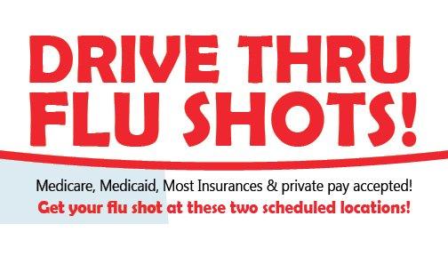 Drive Thru Flu Shots Scheduled