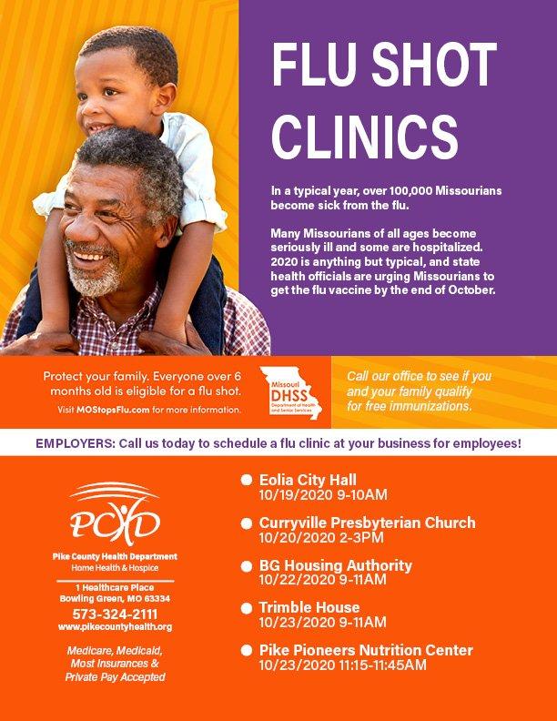 Flu Clinics Scheduled