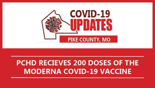 PCHD Receives 200 doses of the MODERNA COVID-19 Vaccine