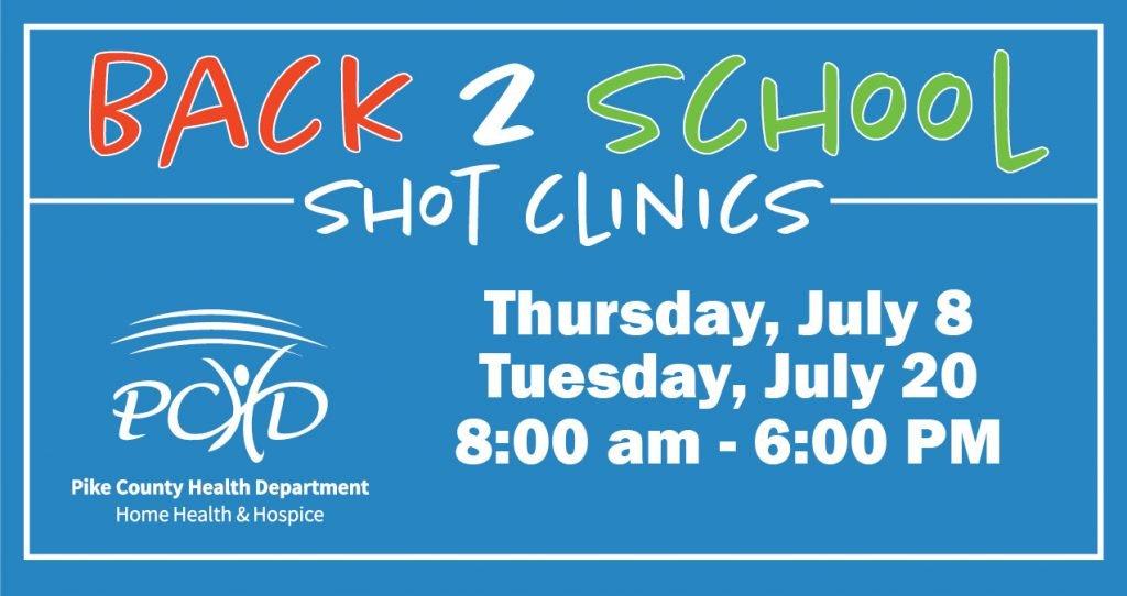 Back 2 School Shot Clinics Scheduled